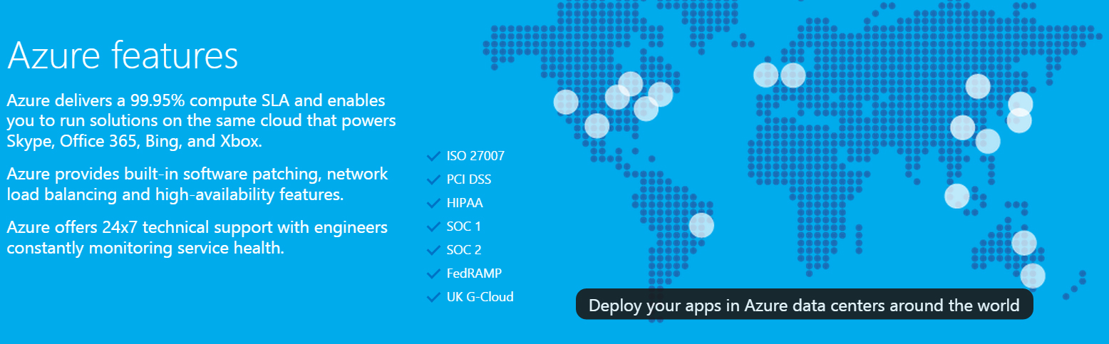 Azure Cloud Features