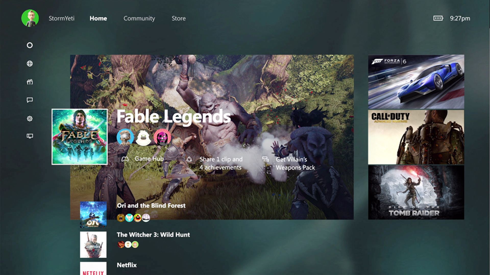 Xbox One 2015 Fall Update UI Dashboard shown at E3 2015