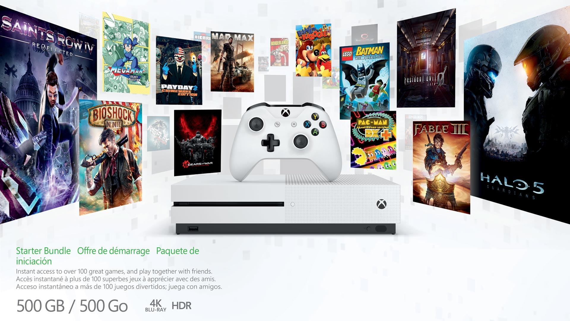 Xbox Holiday Gift Guide 2017 bundles featuring all the Xbox One S Models Christmas 2017
