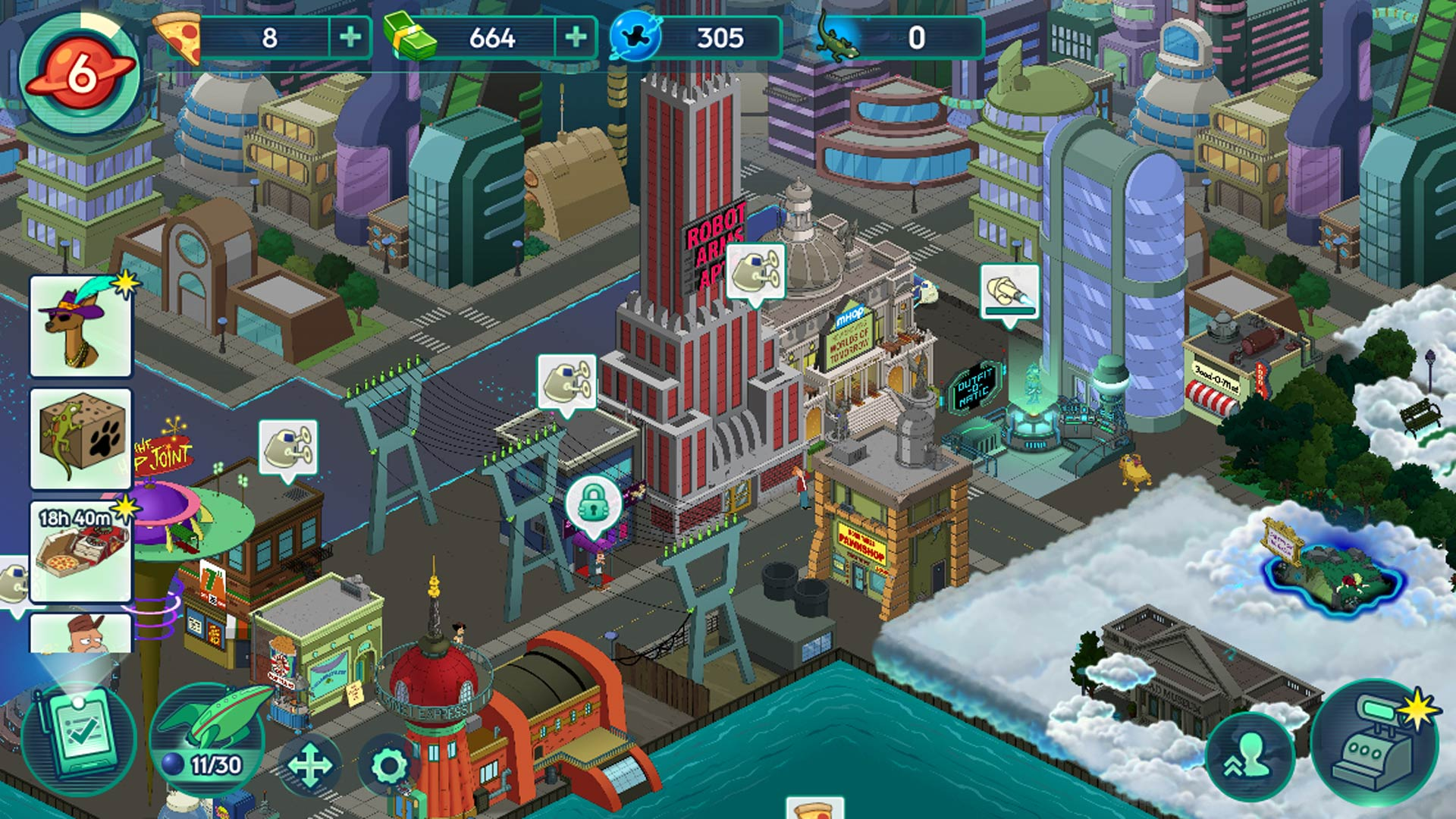 Futurama: Worlds of Tomorrow Screenshot IOS