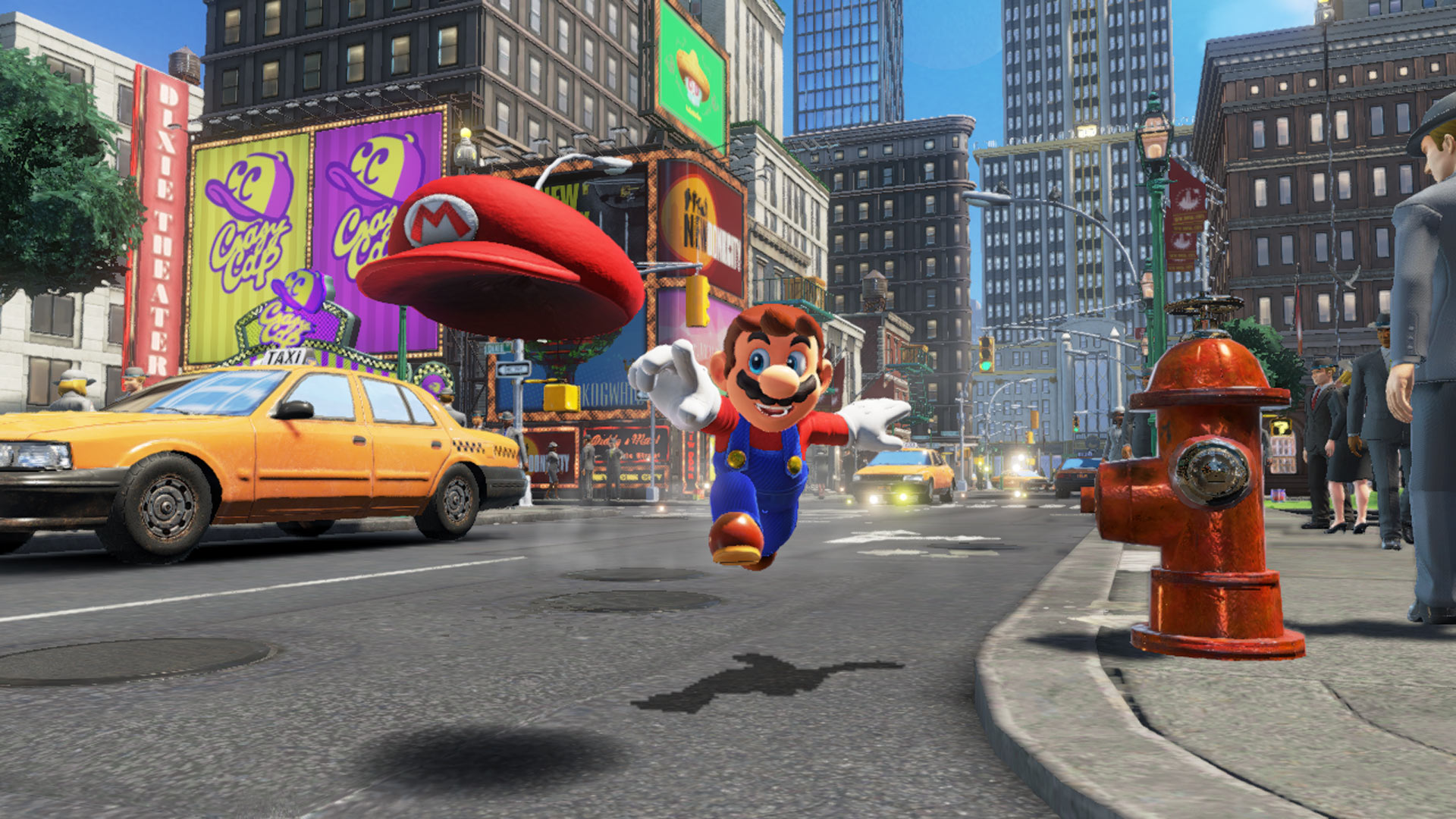 Super Mario Odyssey Mario hat throw Nintendo Switch Screenshot