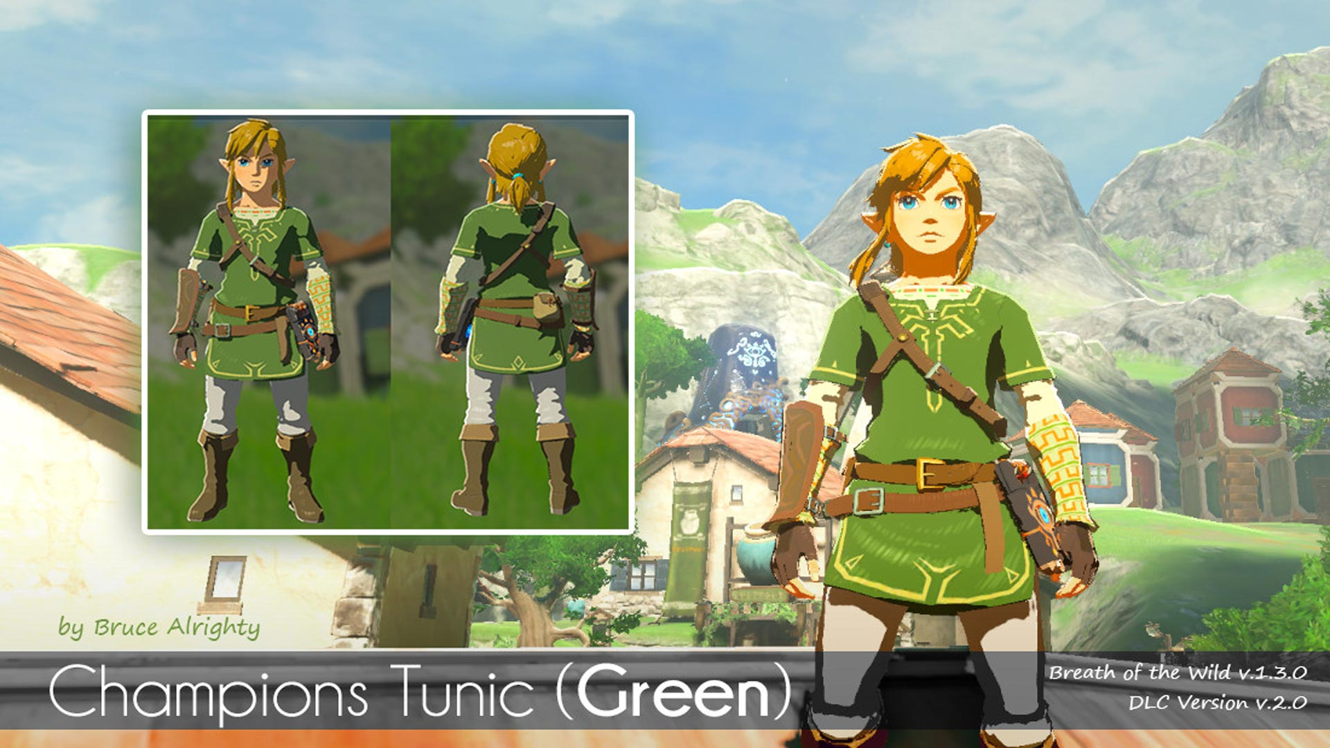 The Legend of Zelda: Breath of the Wild Green Tunic Mod