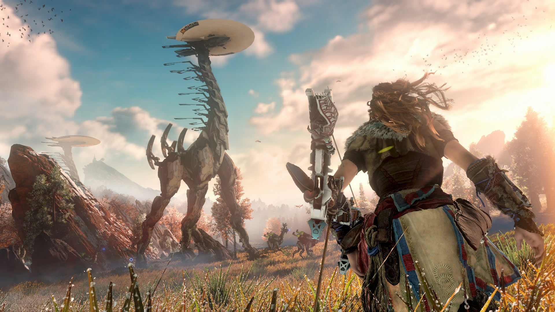 Horizon Zero Dawn Playstation 4 Screenshot of massive machines
