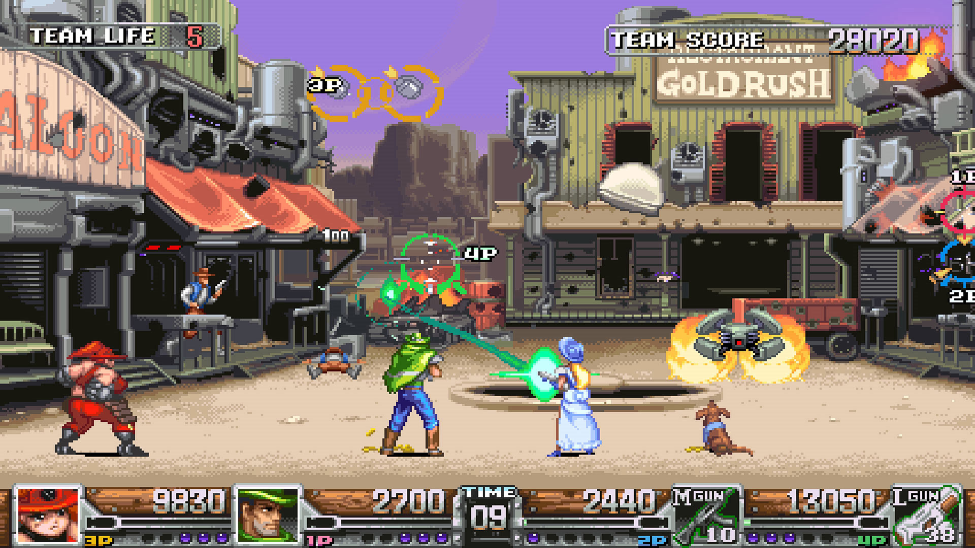 Wild Guns Reloaded Nintendo Switch Wallpaper Screenshot