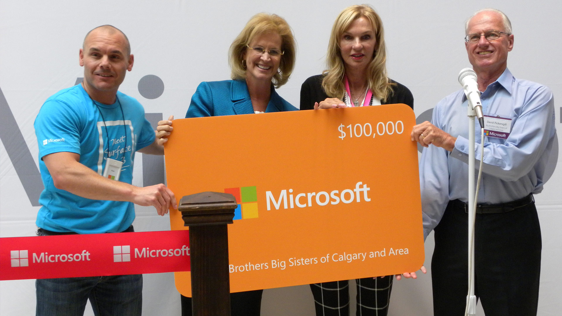 Calgary Microsoft Store Donation at Grand Opening