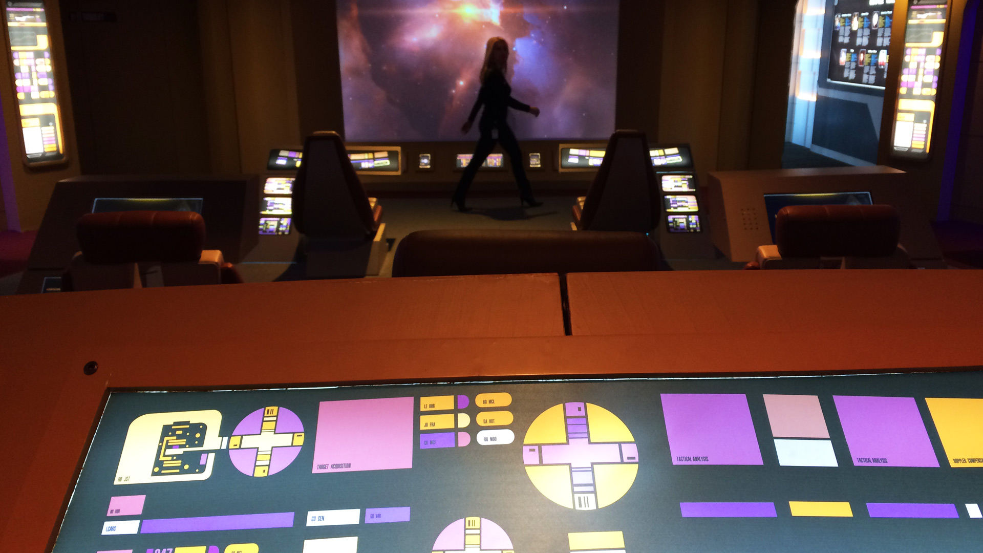 Telus Spark: Star Trek the Starfleet Academy Experience Bridge Command Center