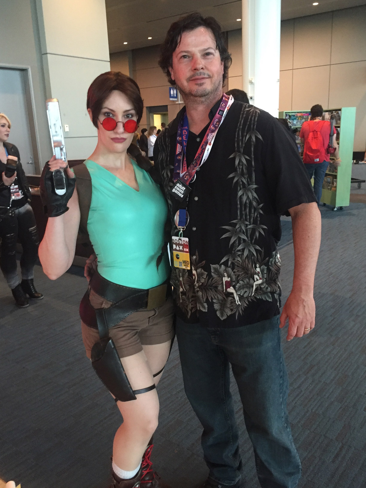 Pax East 2016 Cosplay Day 1 Lara Croft with Glen Fortkamp