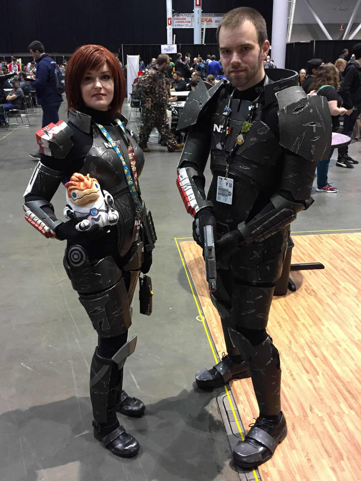 Pax East 2017 Cosplay Day 1 Femshep and Shepard