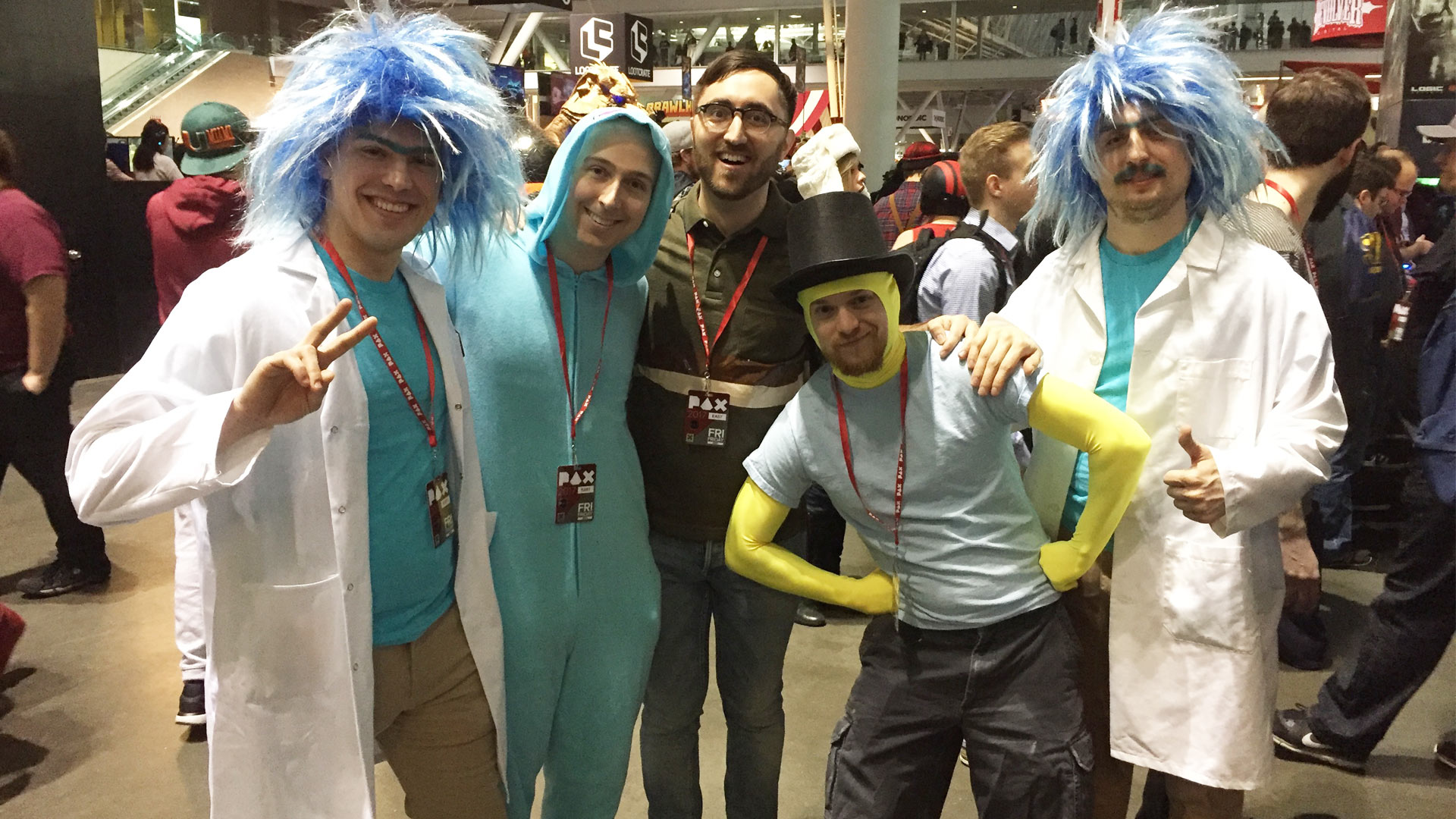 Pax East 2017 Cosplay Day 1 Rick and Morty Group
