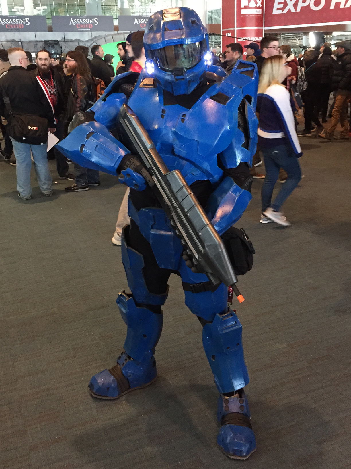 Pax East 2017 Cosplay Day 2 Blue Spartan