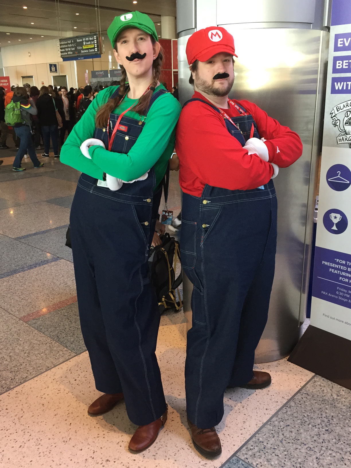 Pax East 2017 Cosplay Day 3 Mario and Luigi