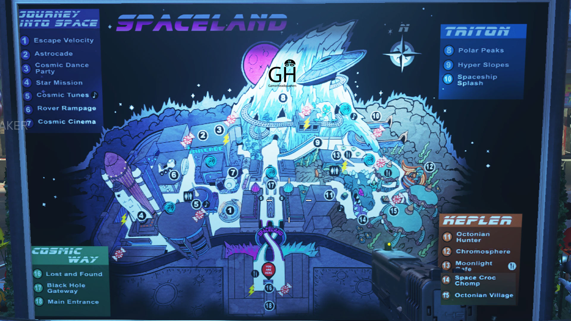 Call Of Duty Infinite Warfare Zombies In Spaceland Map