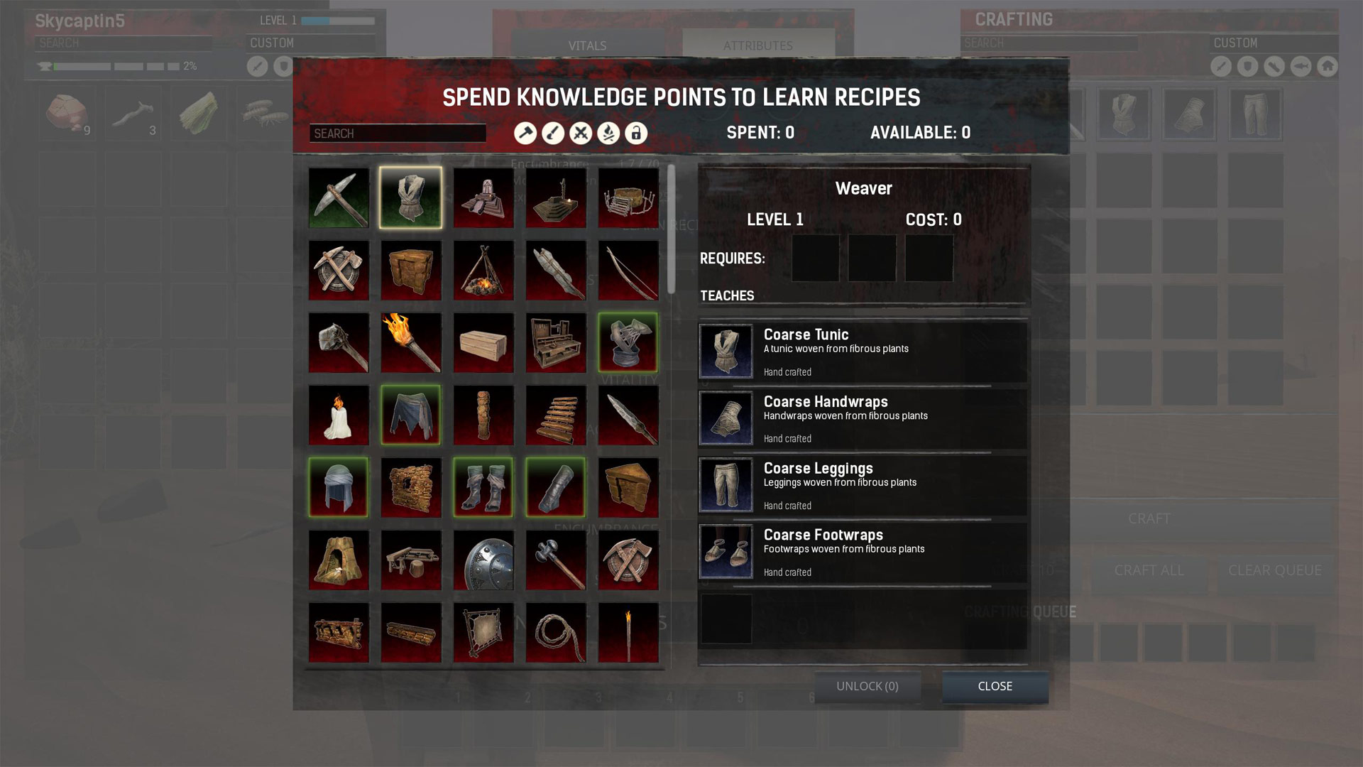 Conan Exiles Armor Skill Tree and Unlocks