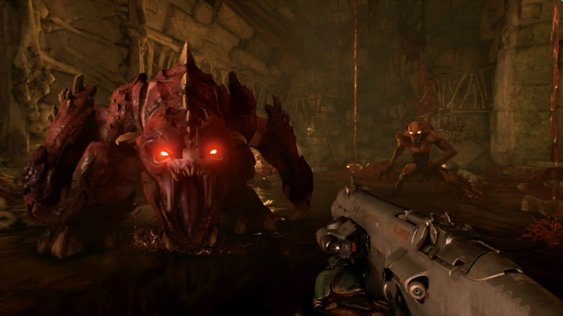 DOOM Nintendo Switch Demon Screenshot