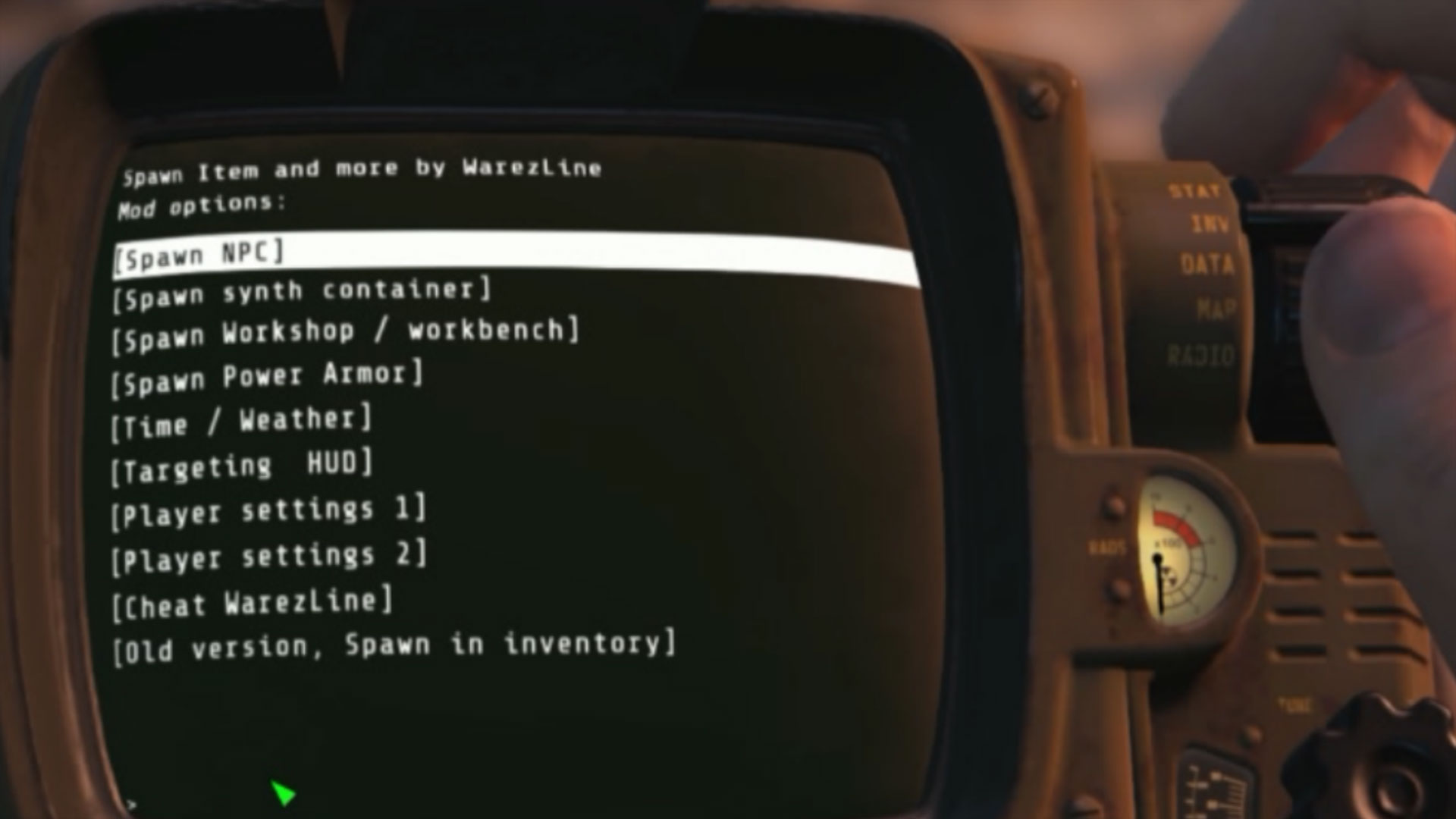 Fallout 4 Xbox Spawn Items Mod
