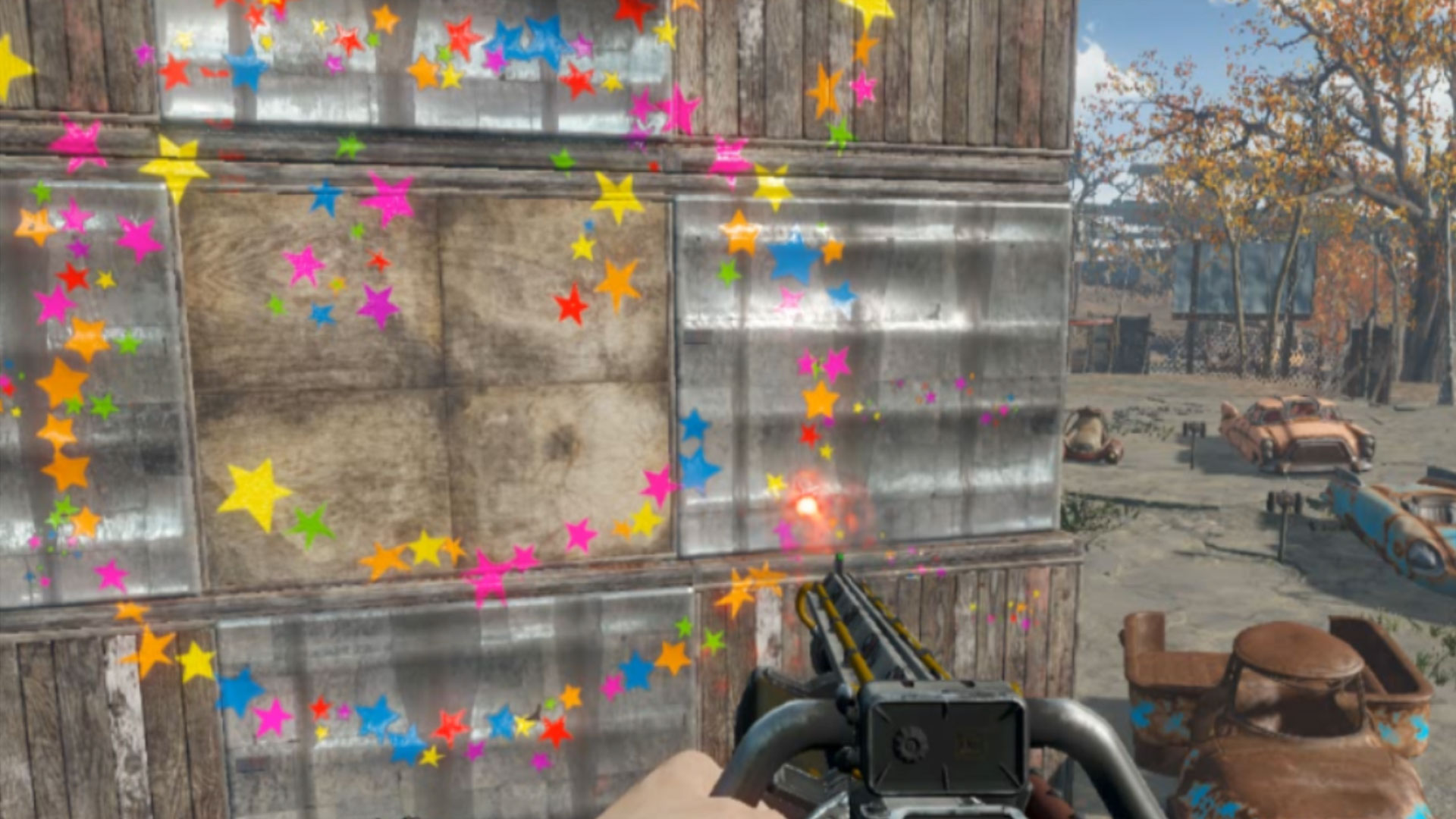 Fallout 4 Gunfetti Impact Decal Replacer Mod