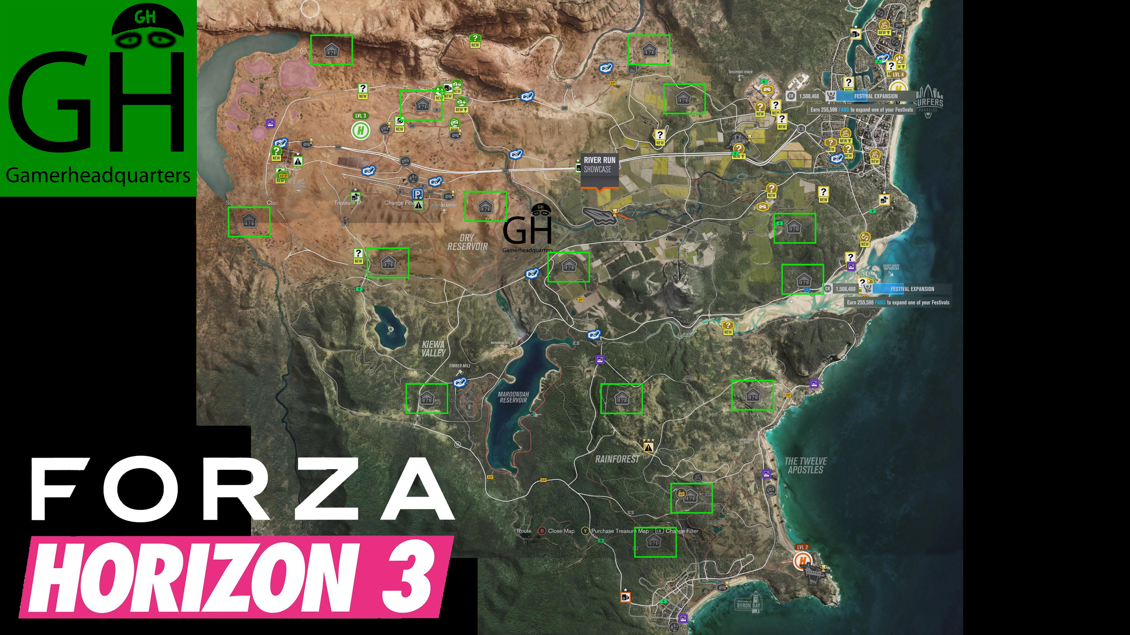 Forza Horizon 3 Barn Finds Map With Locations Of All 15