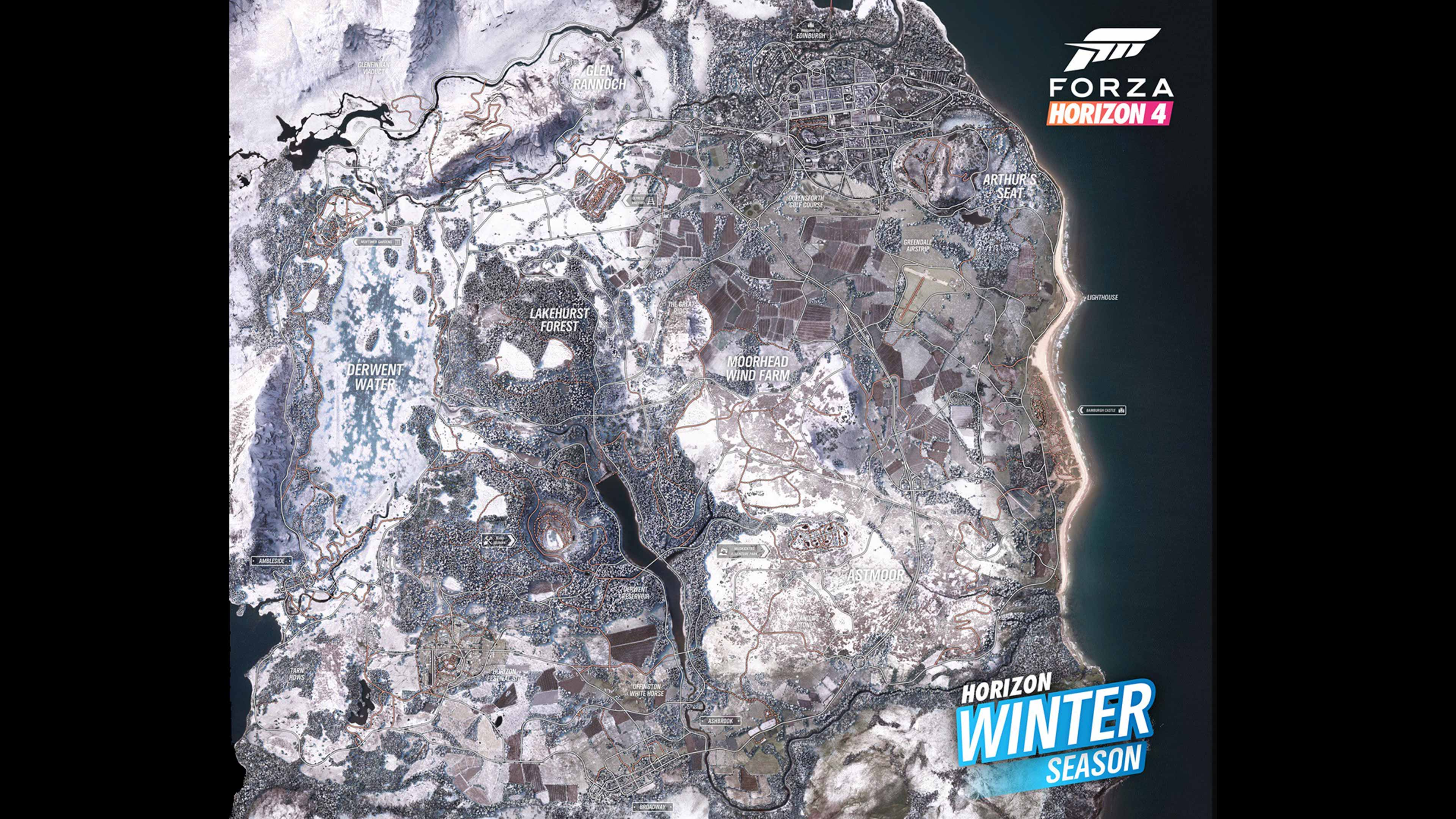 Forza Horizon 4 Winter Map Screenshot