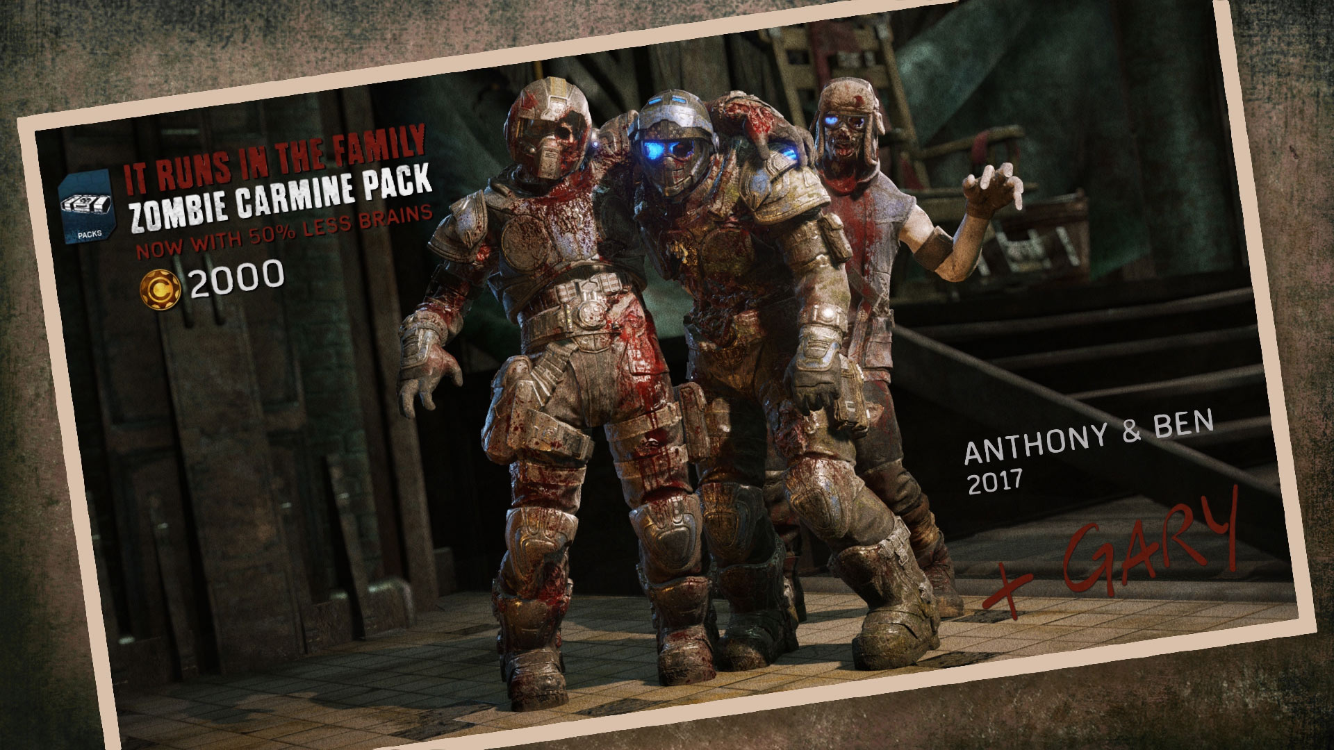 Gears of War 4: Zombie Carmines & Braaains Dialogue Nerfed