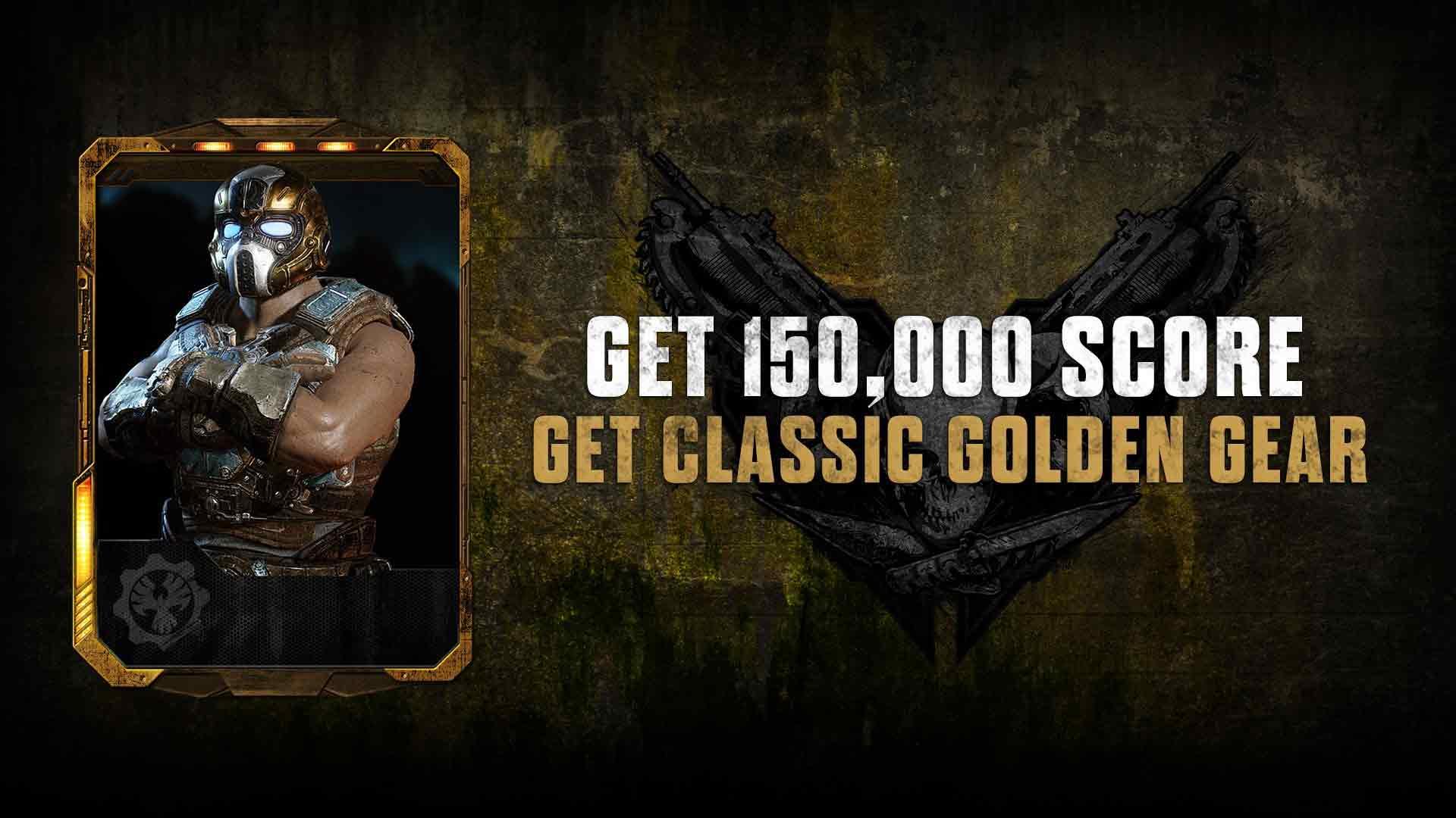 Gears of War 4 Classic Golden Gear Character