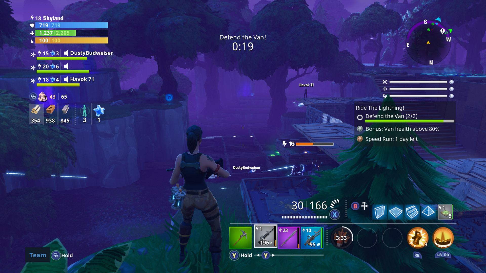 Fortnite Xbox One X Enhanced Screenshot
