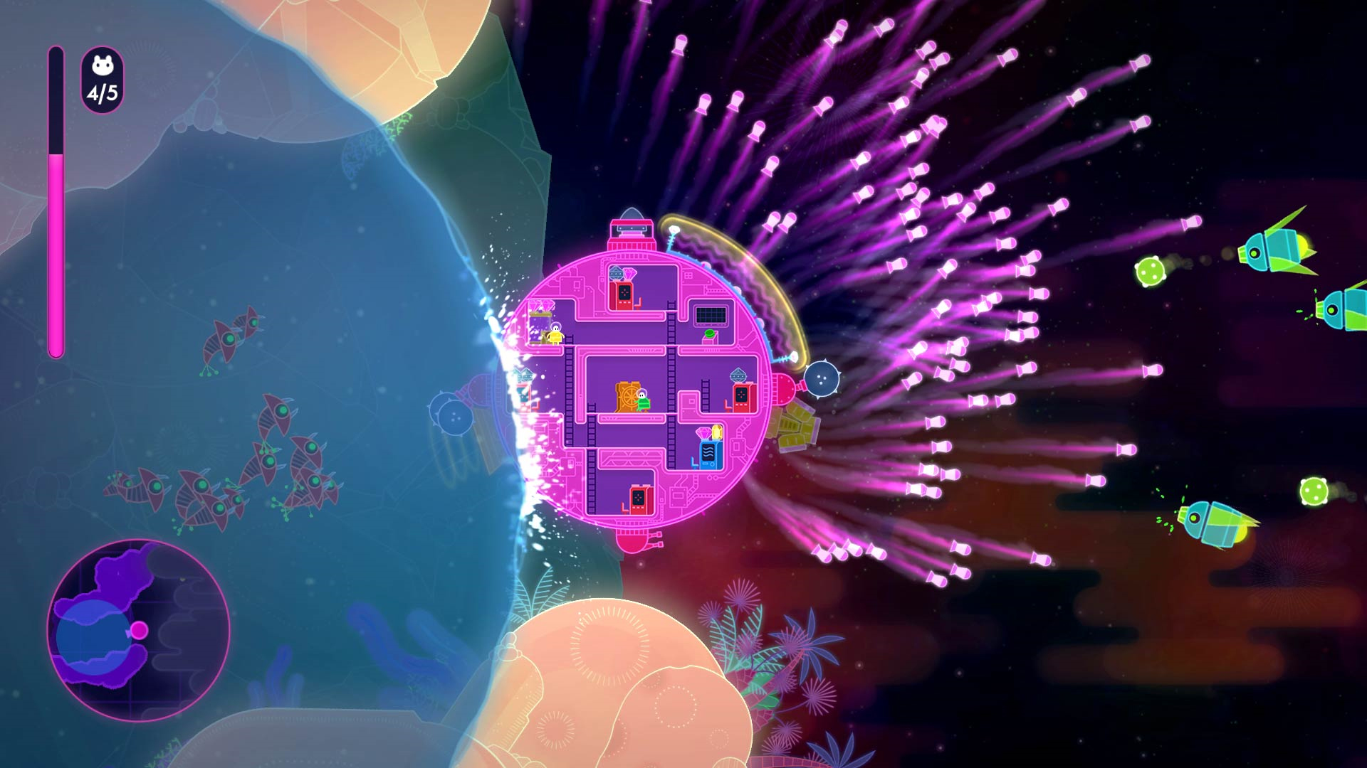 Lovers in a Dangerous Spacetime Coop Screenshot