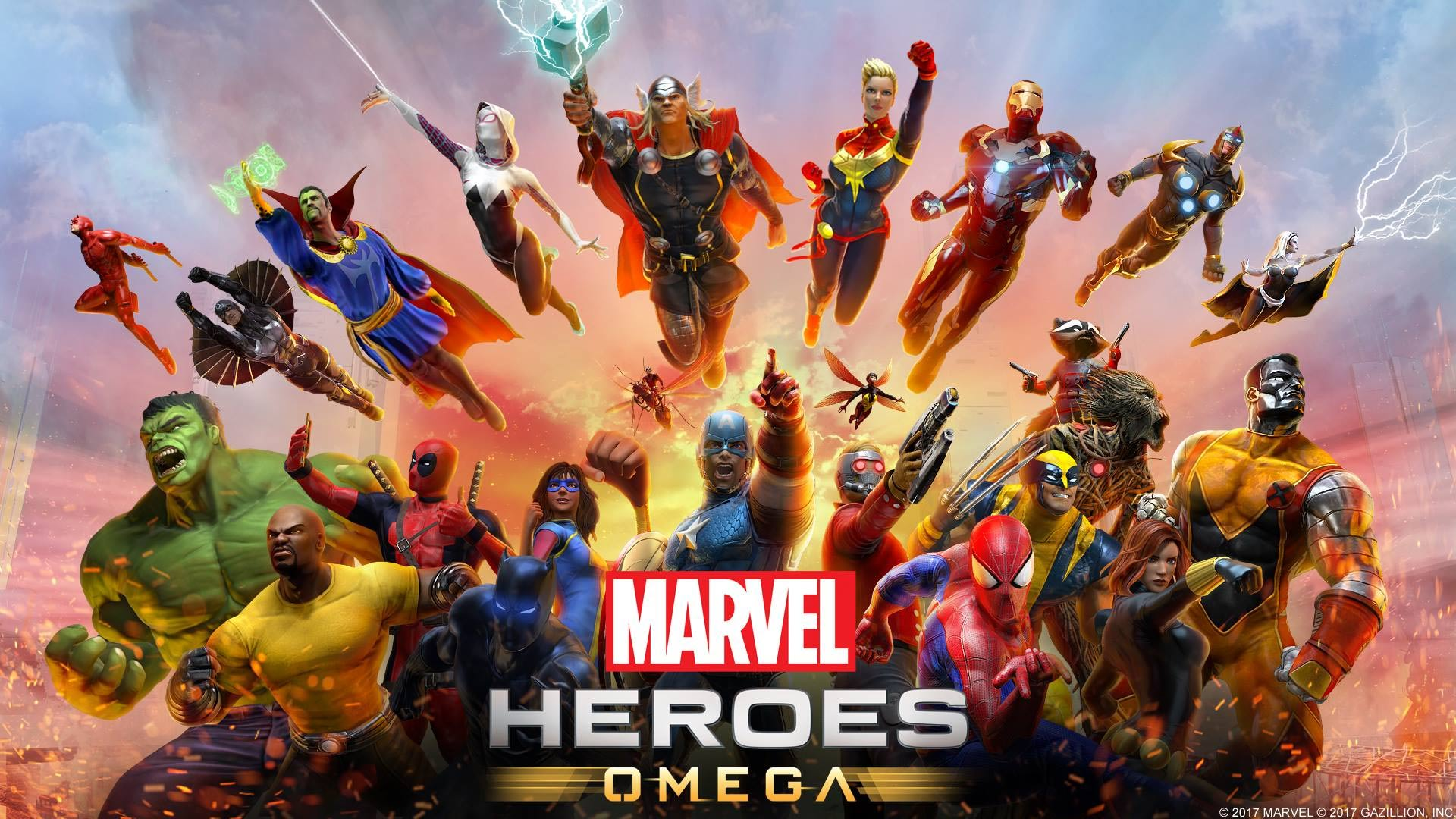 Marvel Heroes Omega Wallpaper Screenshot