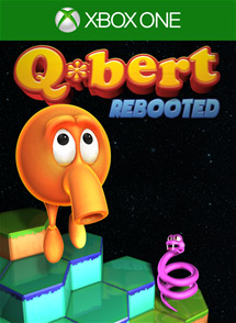 Q*bert Rebooted: The XBOX One @!#?@! Edition Xbox One Box Art