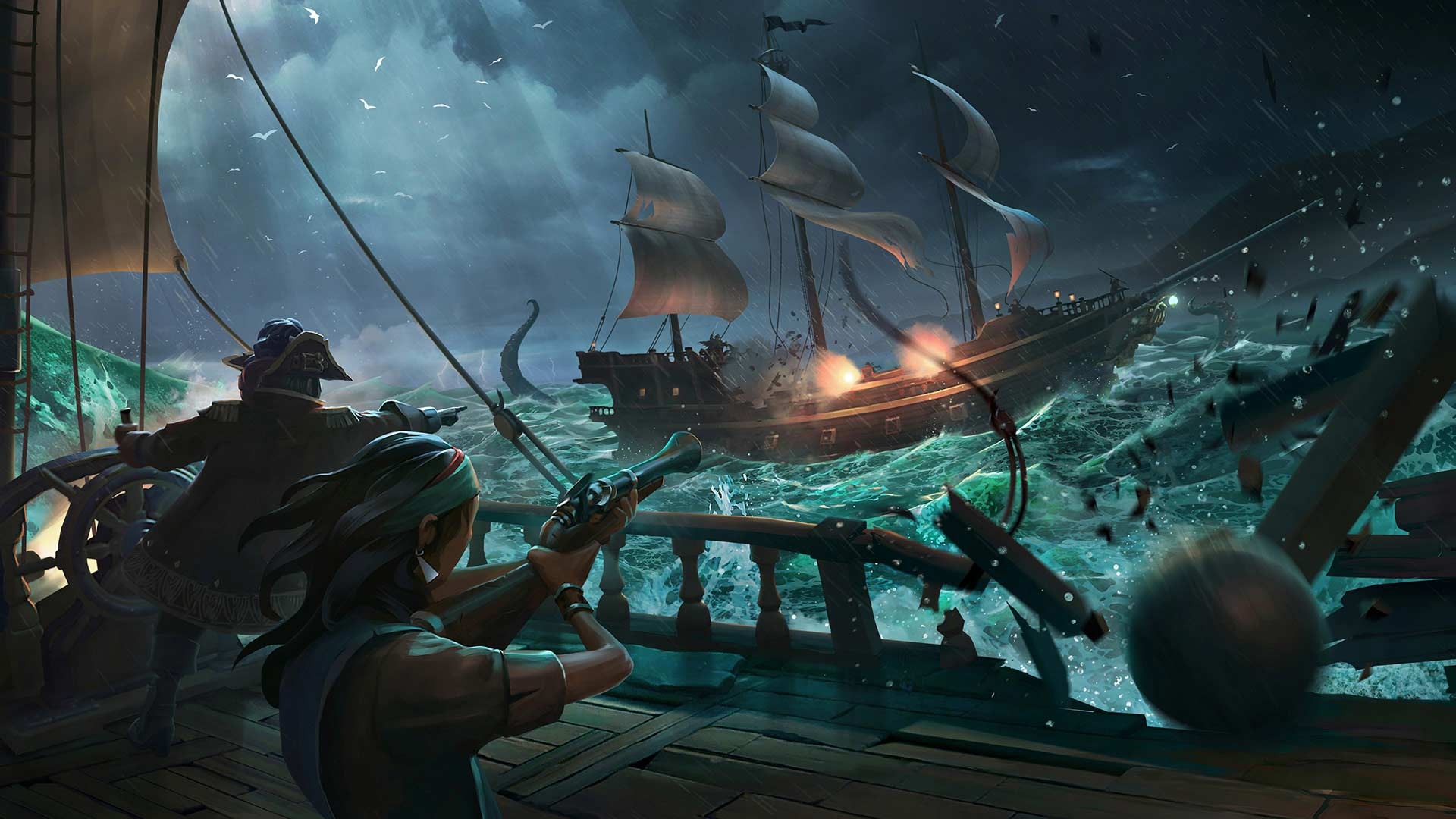 Sea of Thieves Ship Battle