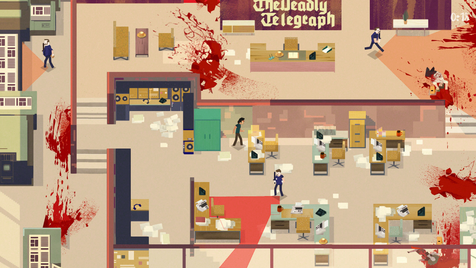 Serial Cleaner Screenshot of cleaning up after murder game