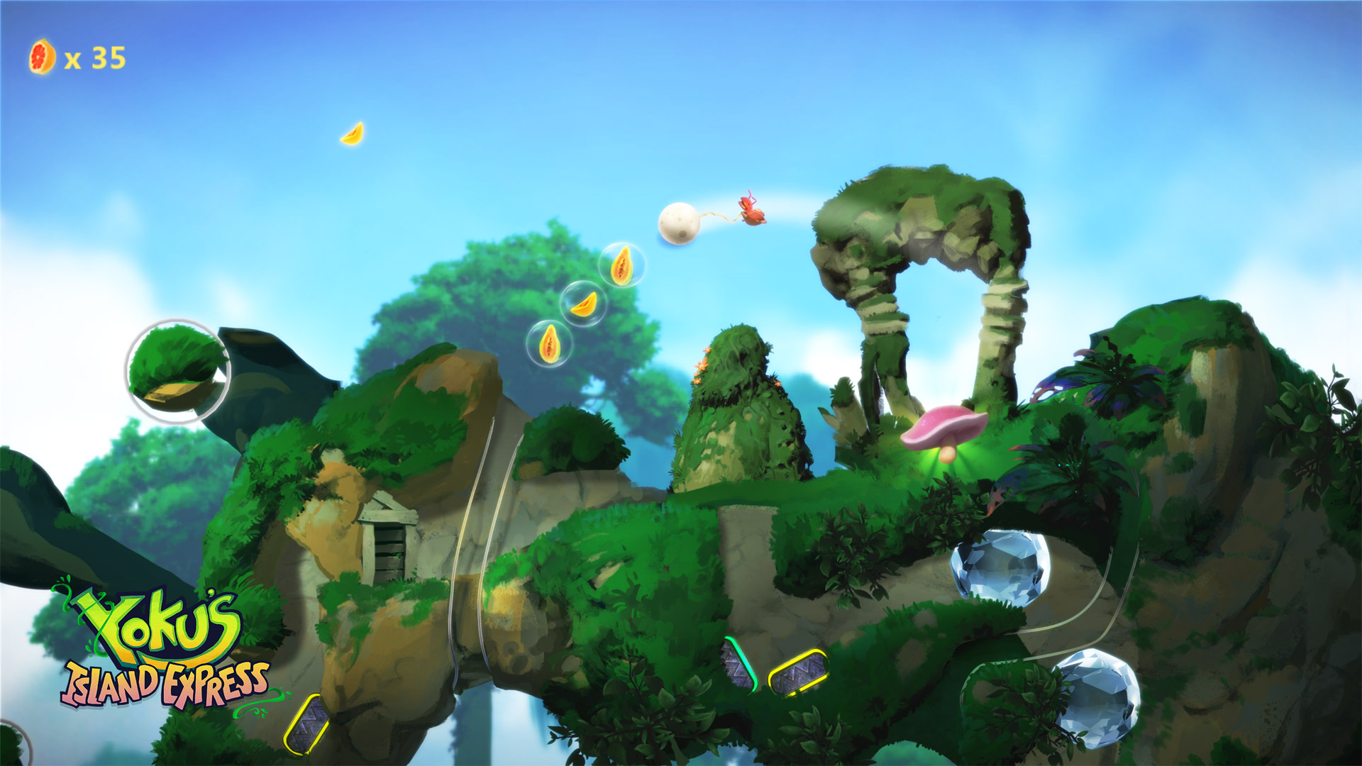 Yoku's Island Express Playstation 4 Screenshot