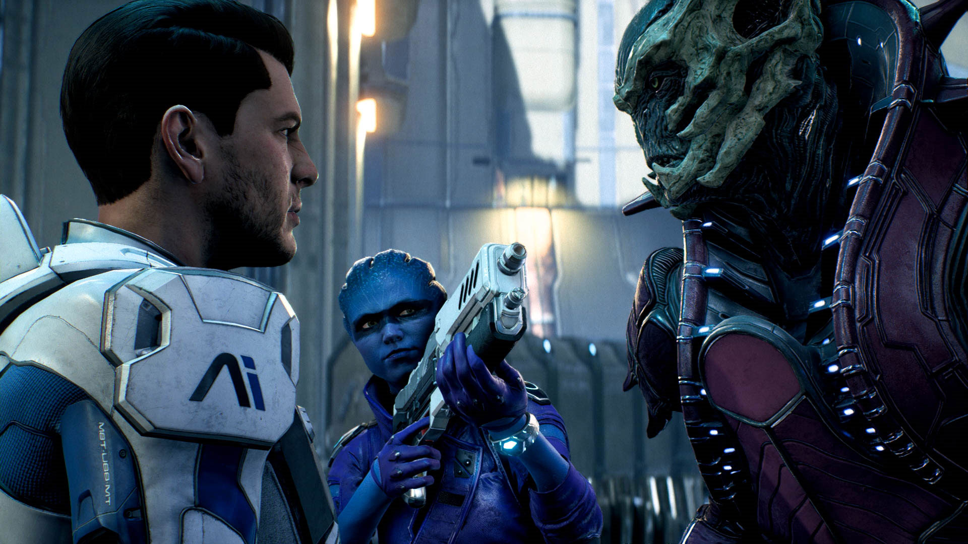 Mass Effect Andromeda Screenshot Ryder, Peebee and Kett