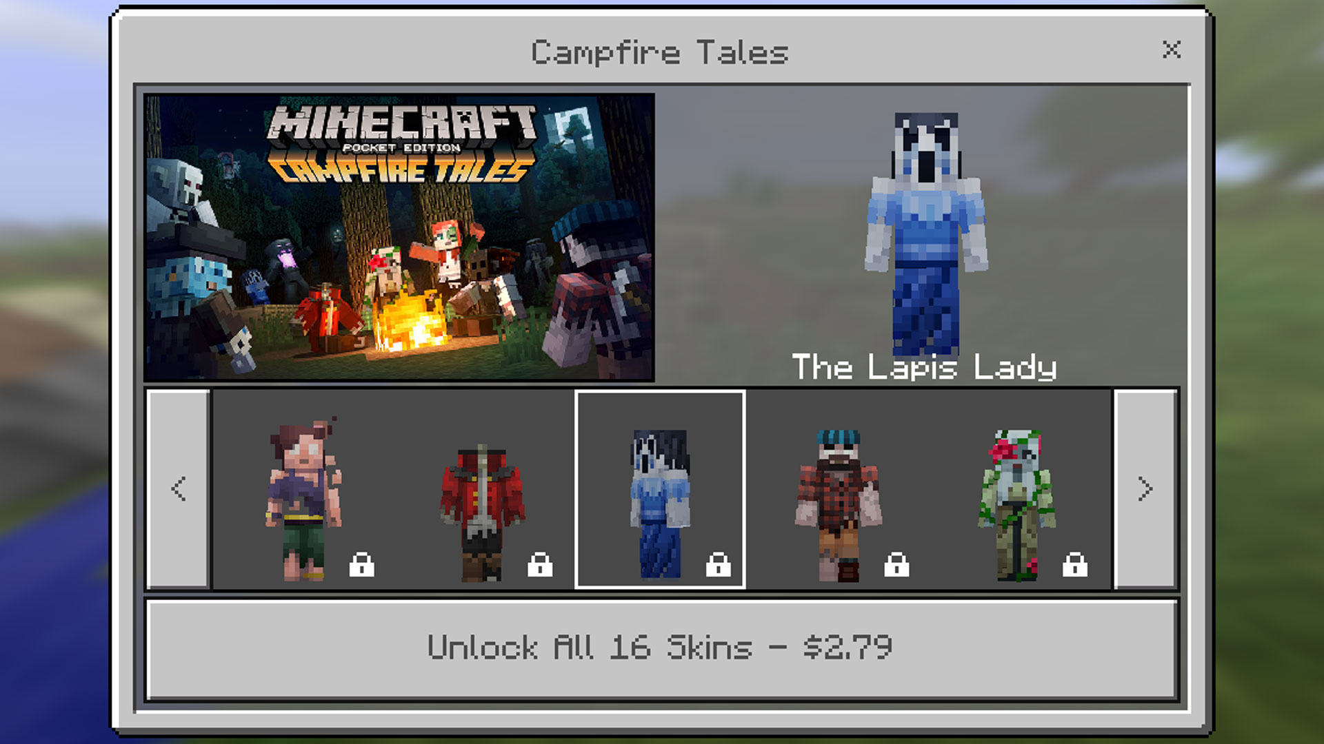 Minecraft Pocket Edition: Campfire Tales Skin Pack