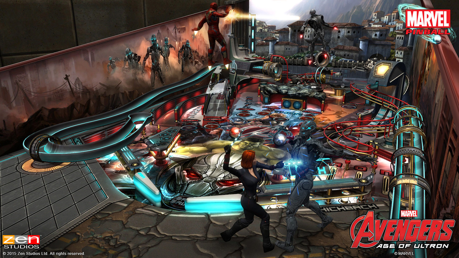 Pinball FX2 Avengers: Age of Ultron Table