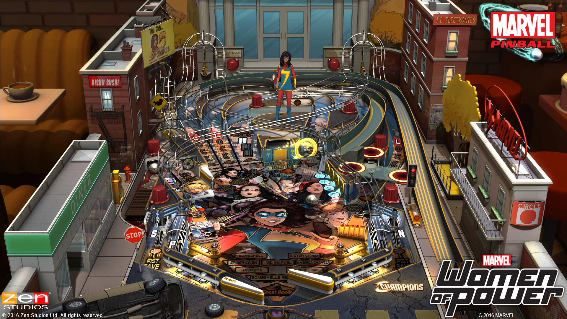 Pinball FX2 Marvel's Women of Power Table