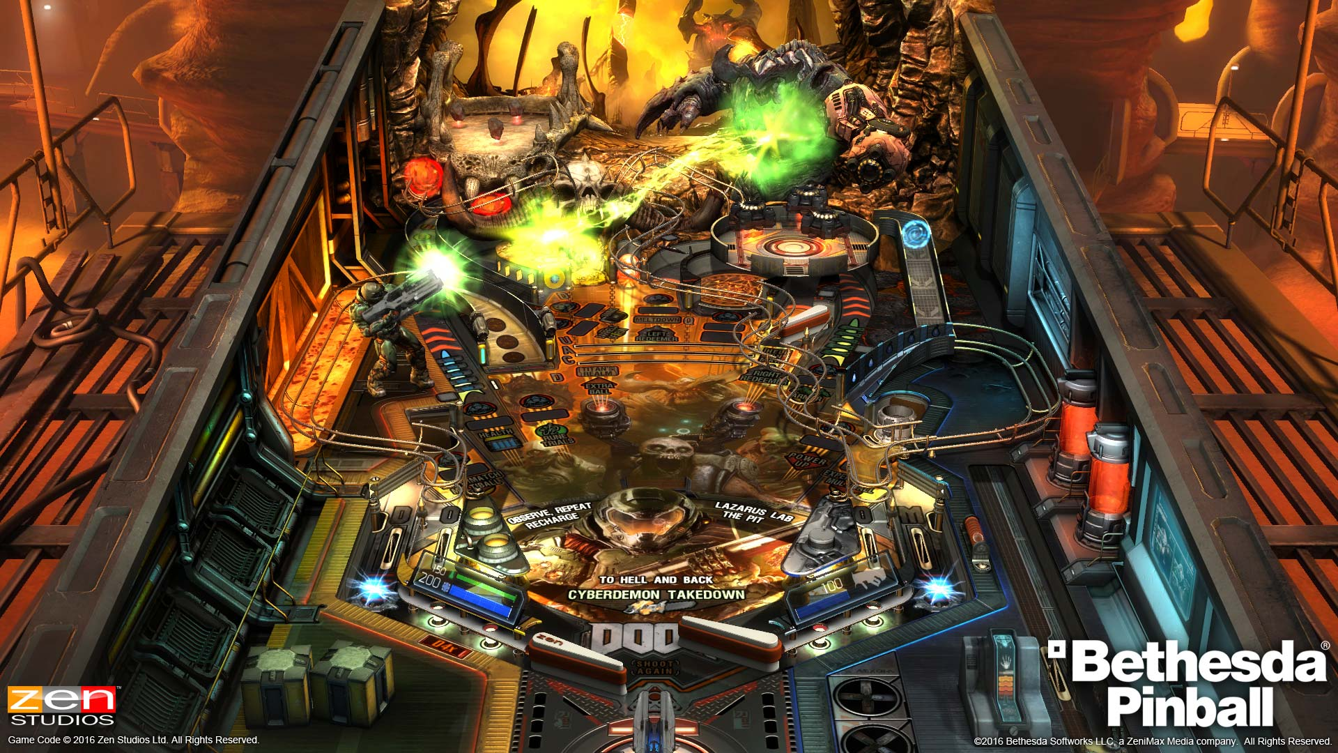 Pinball FX2 DOOM Table from Pinball Bethesda Collection