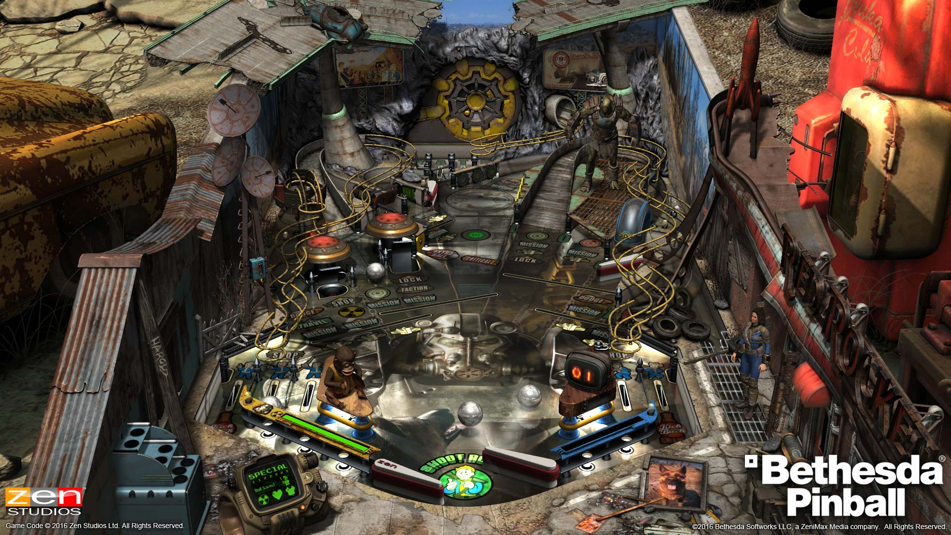 Pinball FX2 Fallout Table from Pinball Bethesda Collection