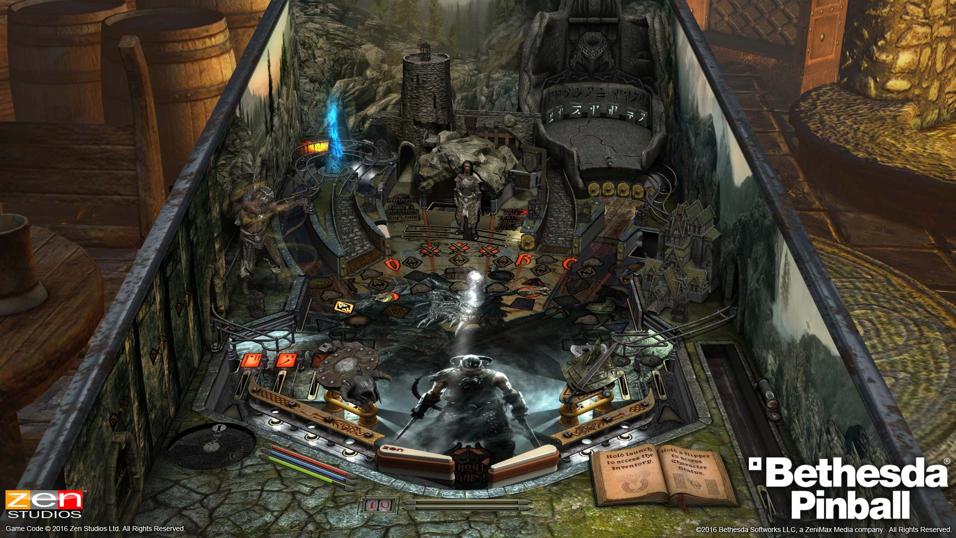 Pinball FX2 Skyrim Table from Pinball Bethesda Collection