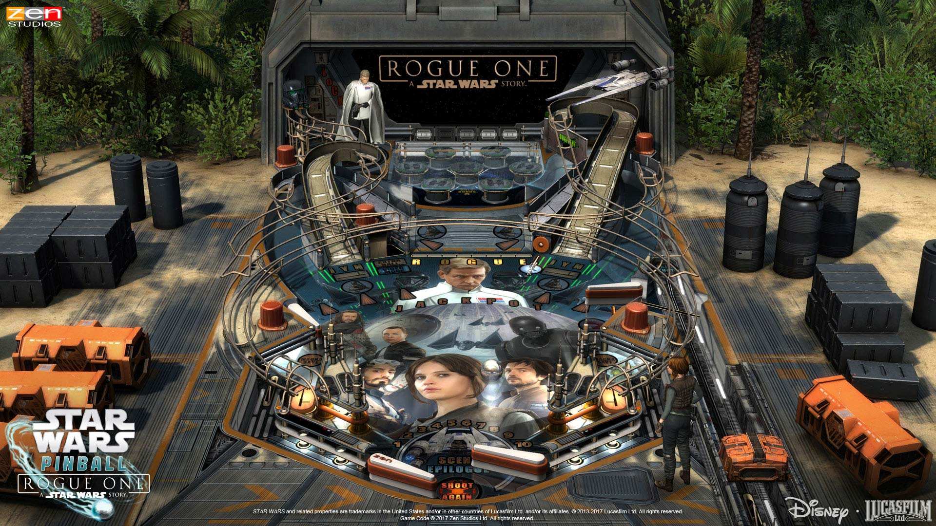 Pinball FX2 Star Wars Rogue One Table on Scarif