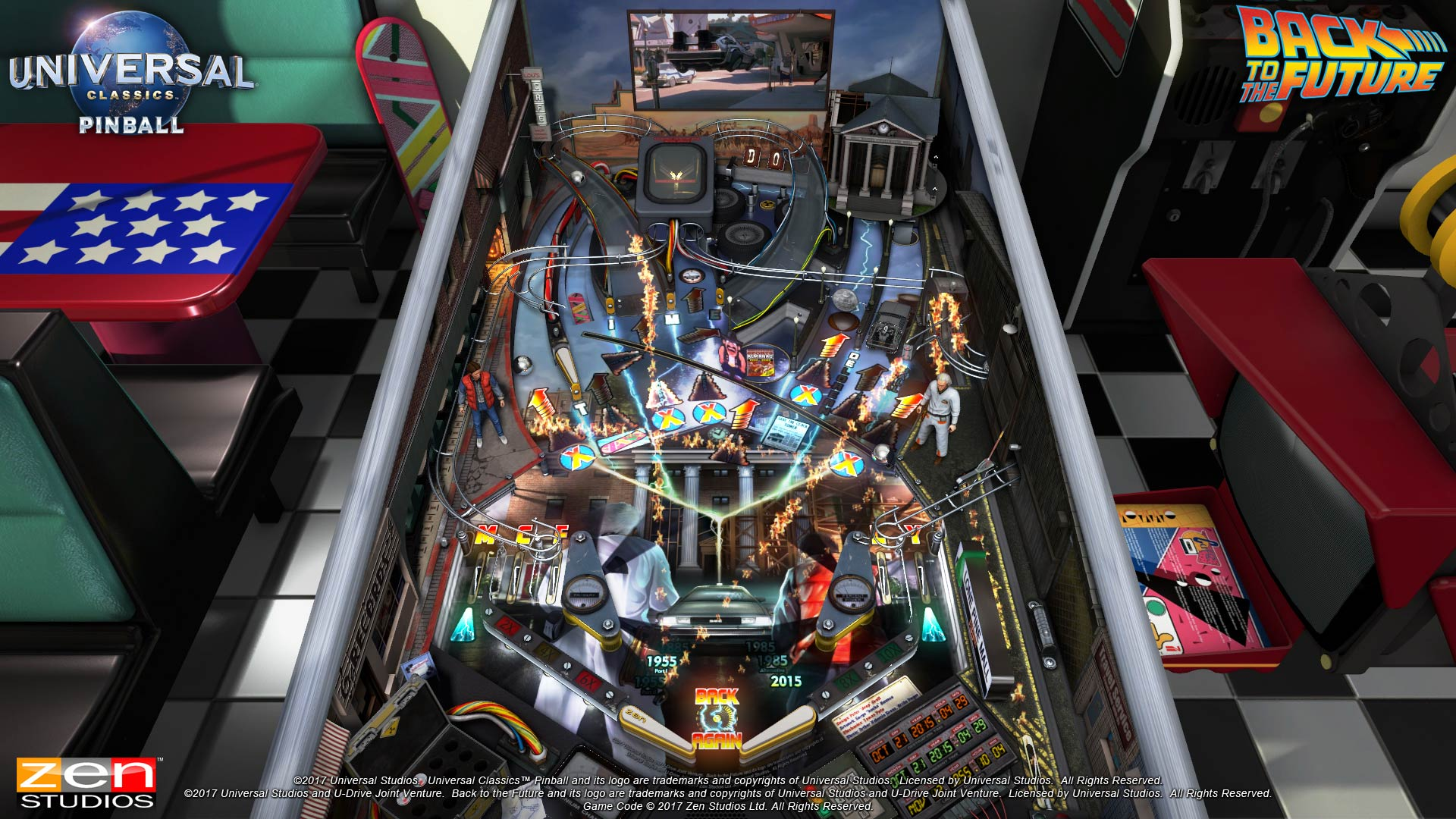 Pinball FX3 Universal Classics Back to the Future Table