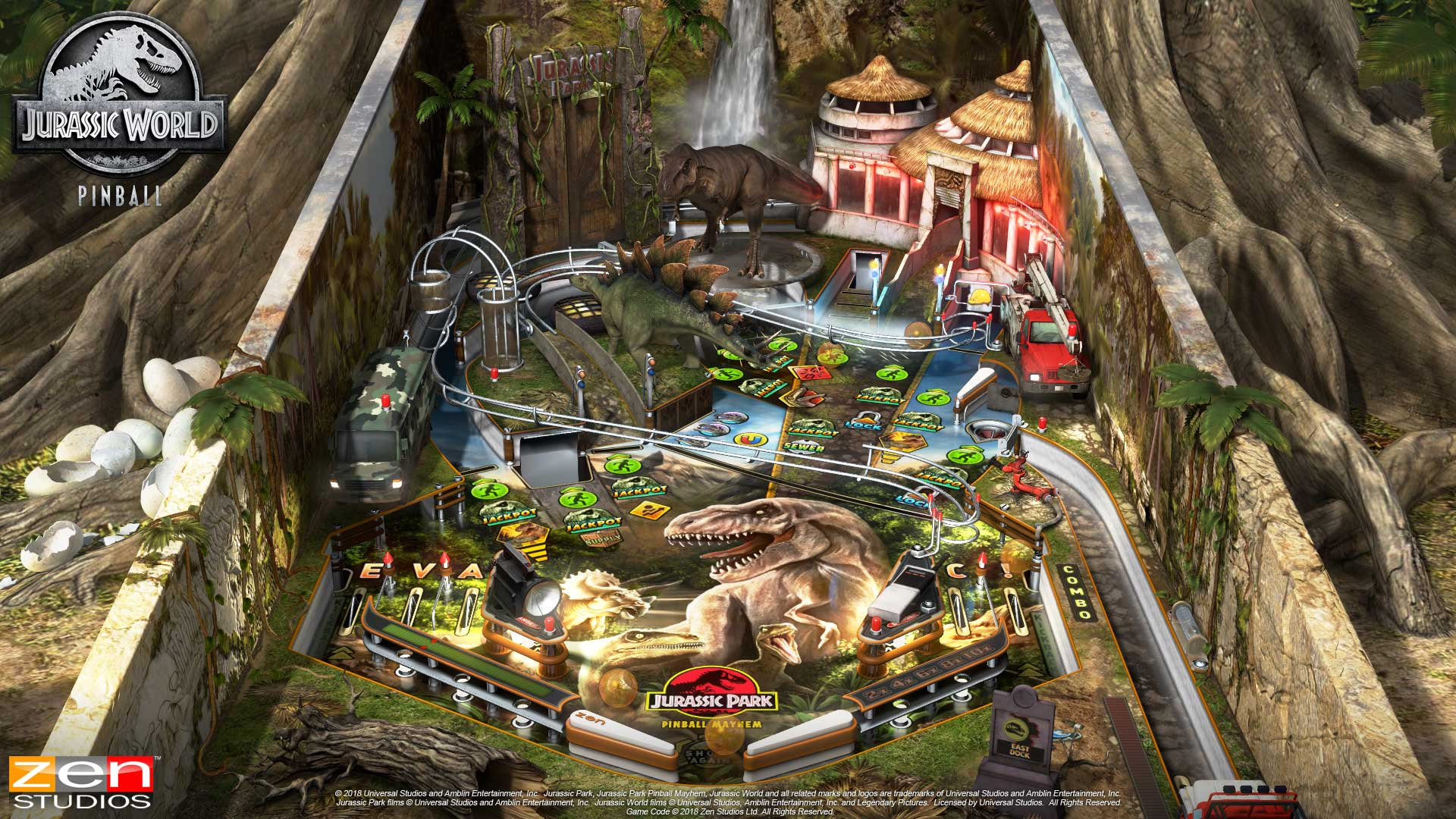 Pinball FX3 Jurassic Mayhem Table