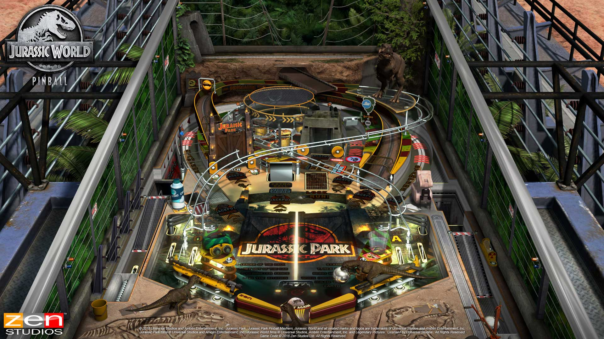 Pinball FX3 Jurassic Park Table