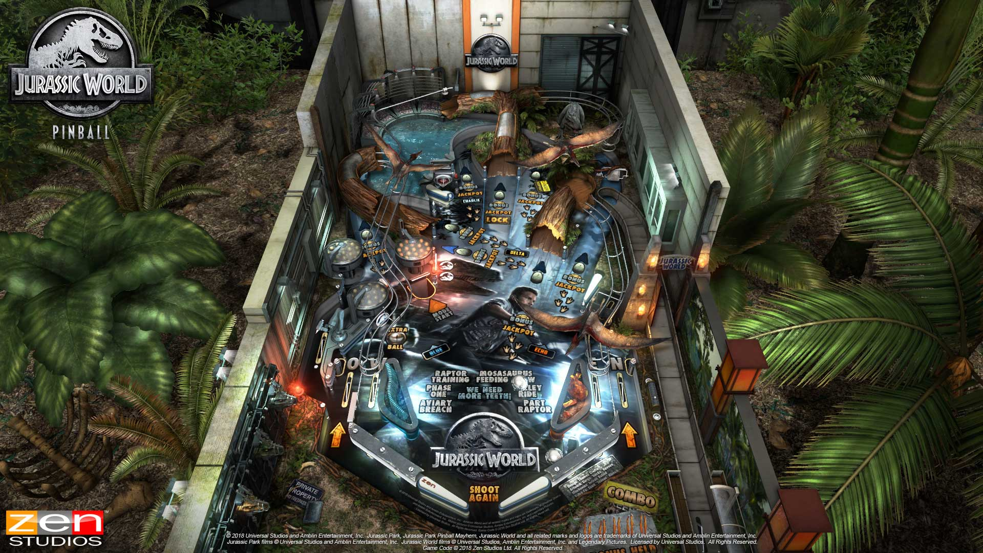 Pinball FX3 Jurassic World Table