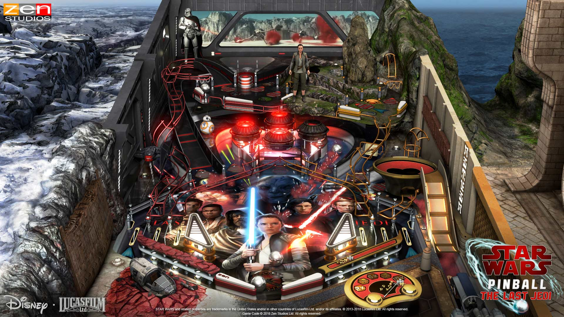 Pinball FX3 Star Wars the Last Jedi Table