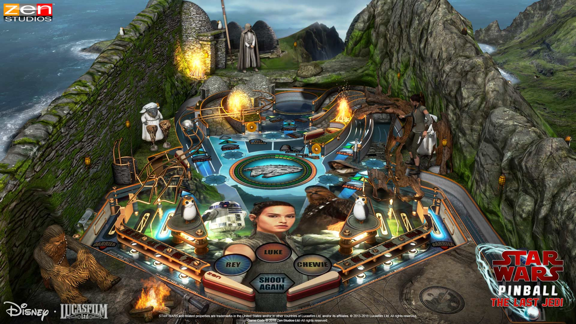 Pinball FX3 Star Wars Ahch-To Island Table