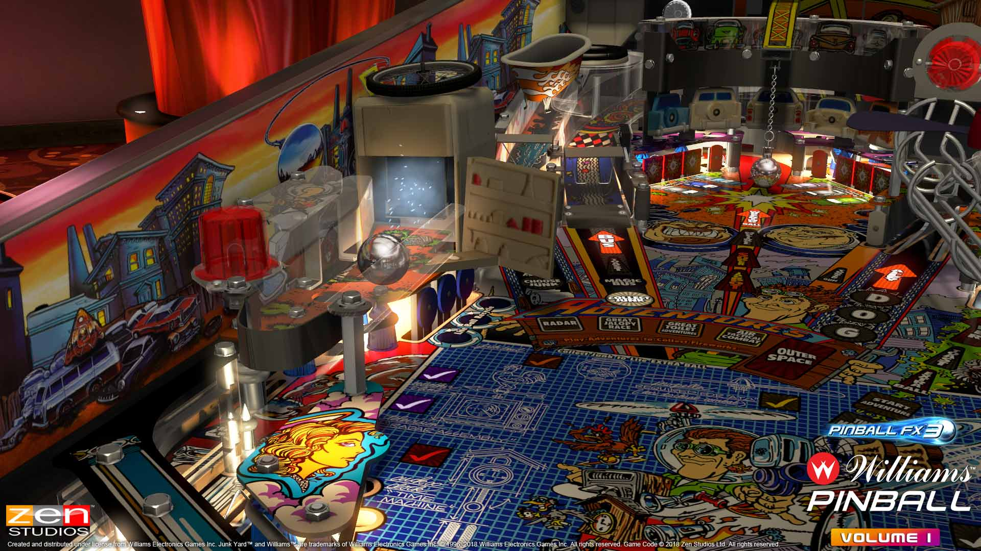 Pinball FX3 Volume 1 High Speed 2 Table
