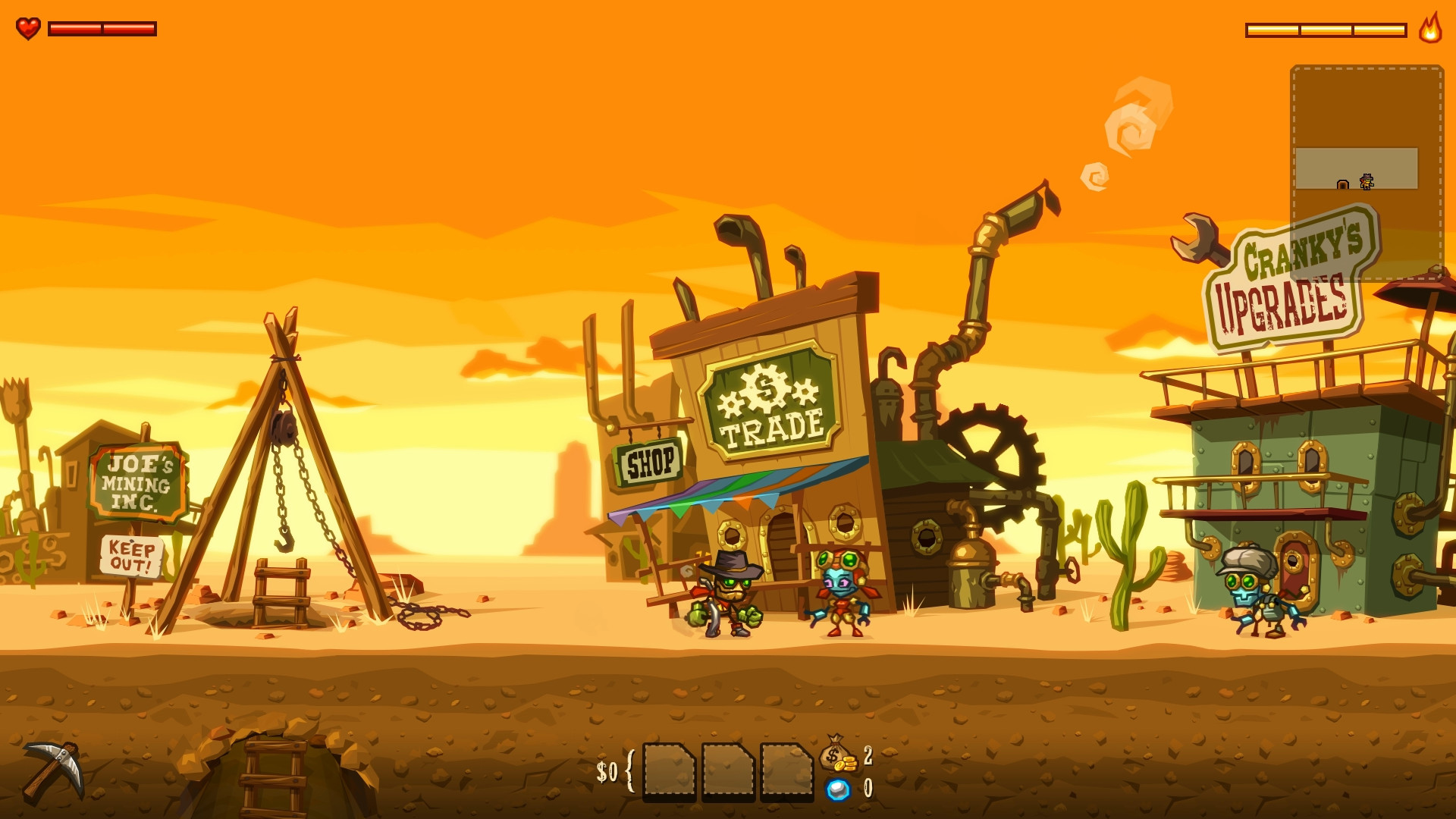 Steamworld Dig Xbox One Screenshot