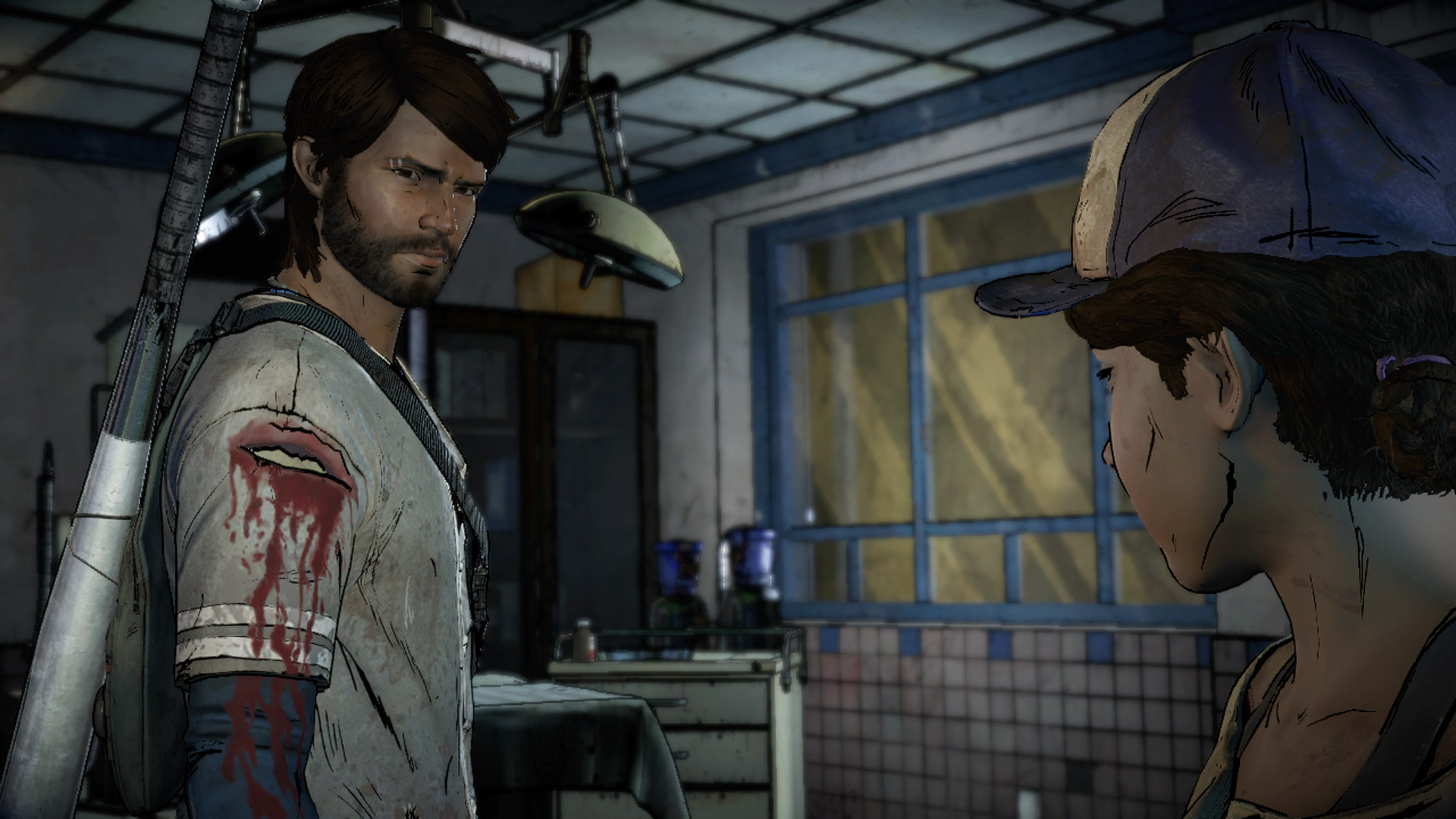 The Walking Dead Clementine and Javier Screenshot