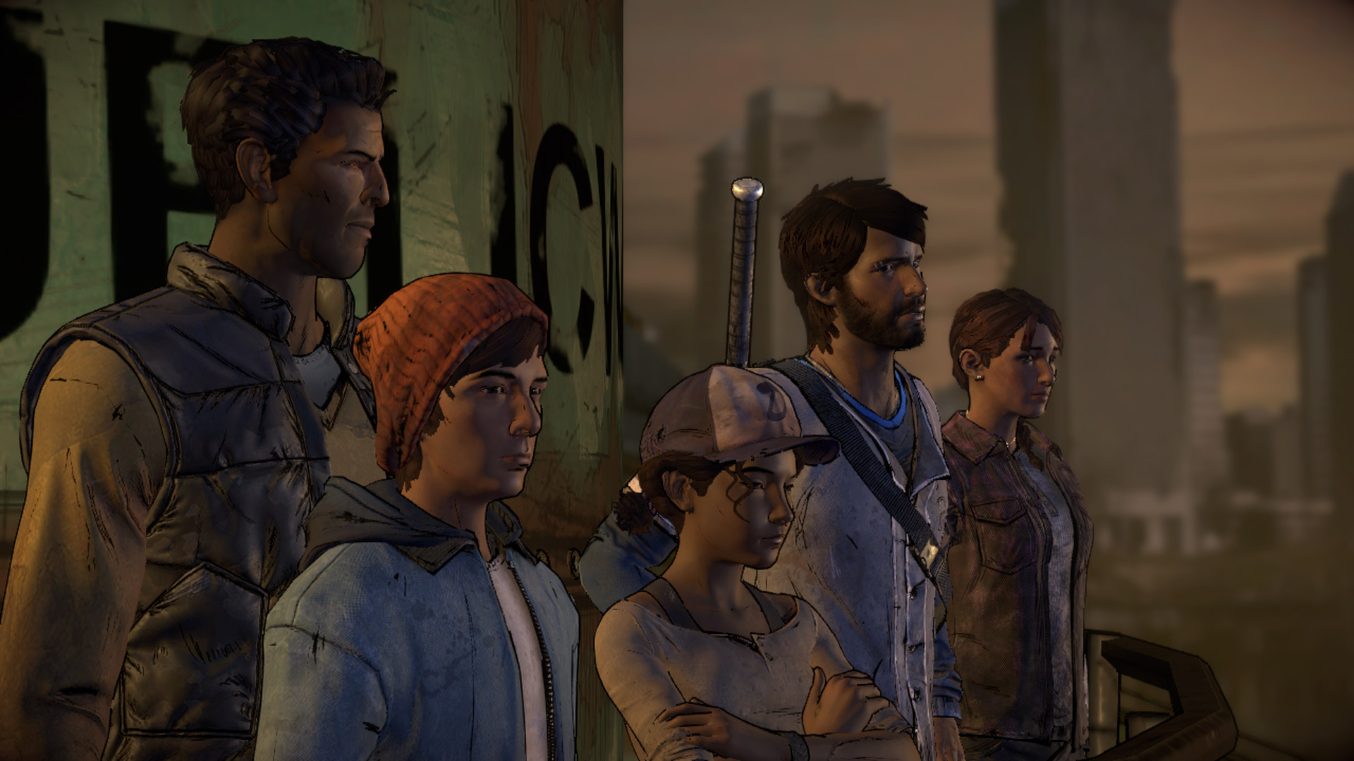 The Walking Dead a New Frontier Wallpaper Clementine and Javier
