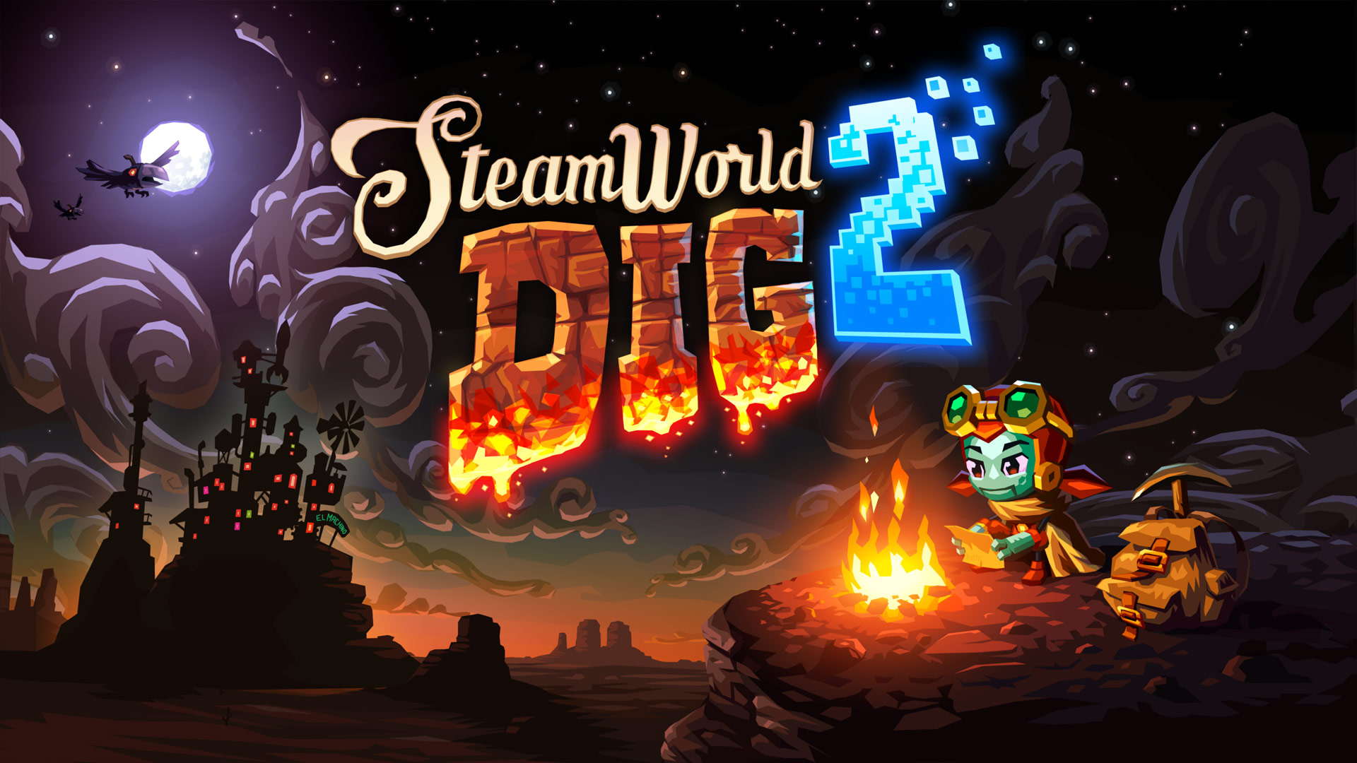 SteamWorld Dig 2 Nintendo Switch Wallpaper Cover Art